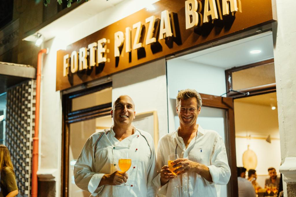 Andrea y Ranieri, los dos fundadores y propietarios de Forte e Fortino Pizza Bar.