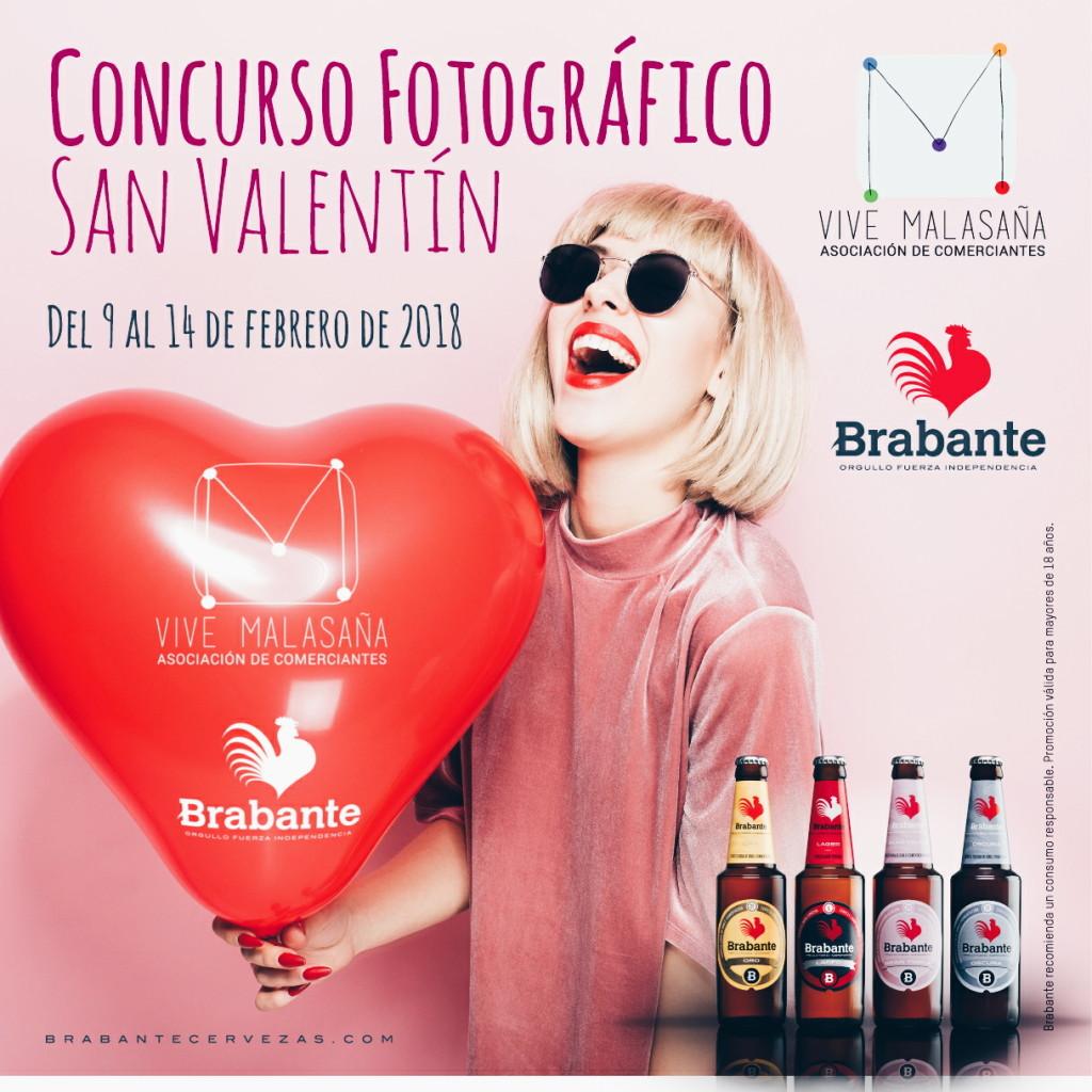 Cartel de Brabante y Vive Malasaña para el concurso fotográfico de San Valentín